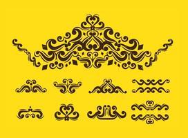 Viktorianische Weinlese-Verzierungen vektor