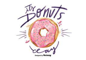 Kostenlose National Donuts Day Aquarell Vektor