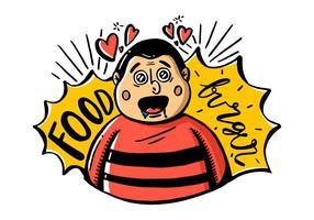 Free Fat Guy Charakter Vektor