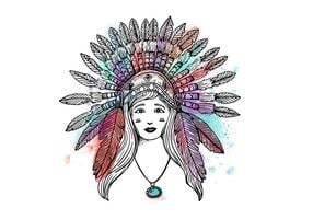 Free Indian Woman Hintergrund vektor