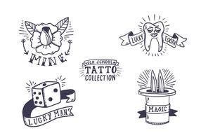 Gratis Old School Tattoo Collection vektor