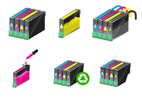 Freier Tintenpatronen-Vektor
