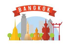 Kostenlose Bangkok Vektor-Illustration