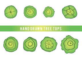 Free Hand Drawn Tree Tops Vektor