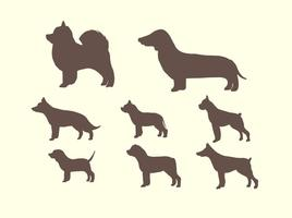 Kostenlose Silhouette der Hund Vektor