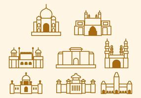 Gratis Indien Landmark Vector