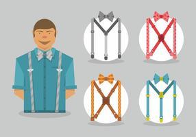 Suspenders vektorkonst vektor