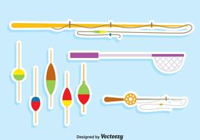 Fischen Werkzeuge Vektor Set