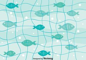 Fischnetz Hintergrund Vektor
