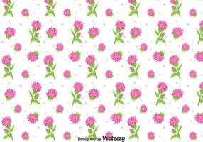 Schöne Distel Blumen Nahtlose Muster vektor