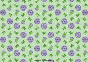 Distel-Blumen-Verzierung Nahtloses Muster