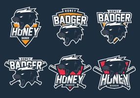 Honig Badger Logo vektor