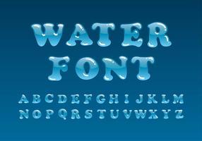 Wasser Schriftart Vektor