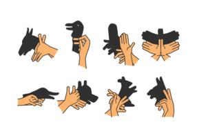 Set Schatten Handpuppe Vol. 3 vektor