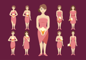 Brautjungfern Frauen Vektor