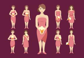 Brudtärna kvinnor vektor