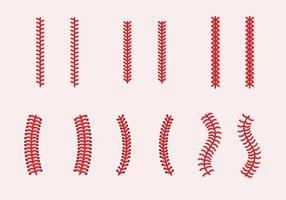 Baseball Laces Vektor Sets