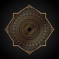 elegant guld mandala bakgrund vektor