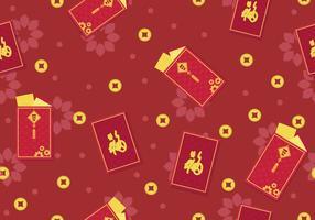 Red chineese nyårspaketdesign