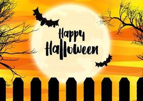 spöklikt halloween landskap vektor