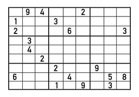 Sudoku pusselvektor