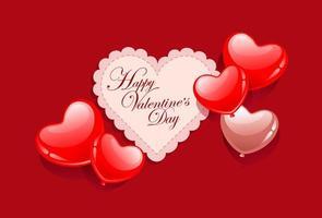 Valentinstagskarte vektor