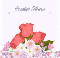 Nelken-Blumen-Hintergrund-Schablone