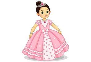 schöne kleine Prinzessin vektor