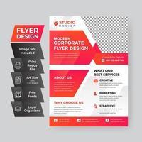 leuchtend rote Corporate Business Flyer Vorlage vektor
