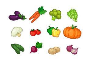 samling av grönsaker vektor
