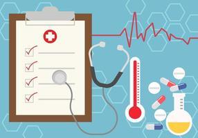 Rezept-Auflage-medizinischer Vektor