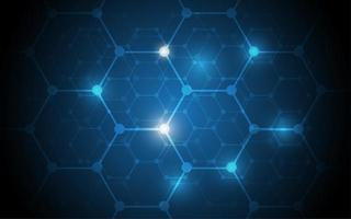 abstrakte Technologie Sechseck Hi-Tech-Hintergrund vektor