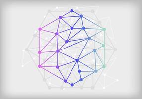 Nanoteknik Virtuell abstrakt bakgrund vektor