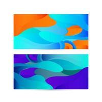 färgglada 3d flytande former bakgrundsdesignuppsättning