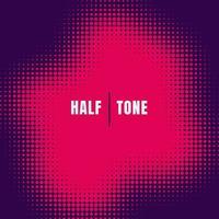 abstrakte rosa Halbton-Effekt-Textur auf lila Hintergrund
