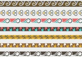 Traditionella Maori-vektorgränser och -mönster vektor