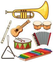 Satz von Musikinstrumenten vektor
