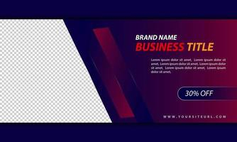 mörk gradient webb banner mall för företagsaffärer vektor