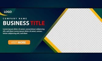 grüne und gelbe Web-Banner-Vorlage für das Firmengeschäft vektor