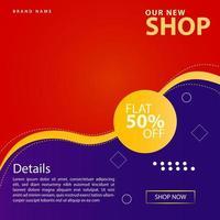 Social Media New Shop Promotion Post Vorlage