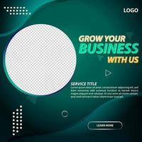 trendiga gröna företag sociala medier postmall