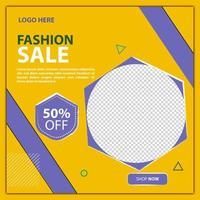 mode försäljning sociala medier post eller flygblad