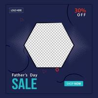 glücklicher Vatertag Social Media Post Sale Banner vektor