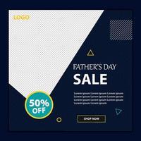 glad fars dag sociala medier försäljning banner vektor
