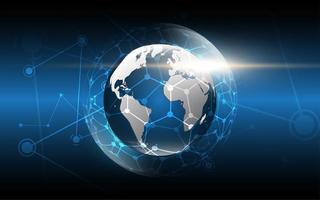 globale Netzwerkverbindung Weltkarte Hintergrund