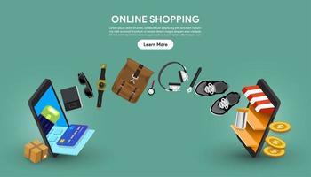 online shopping koncept vektor
