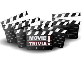 Film Trivia Hintergrund Illustration vektor