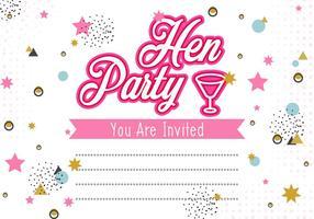 Henne-Partei-Einladungs-Schablonen-Illustration vektor