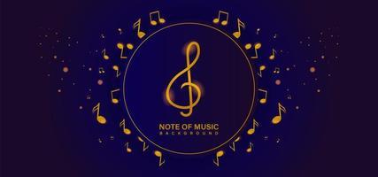 goldene Musiknoten im und um den Kreisrahmen vektor
