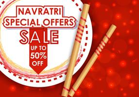 Glückliche Navrati Verkauf Angebote Illustration vektor